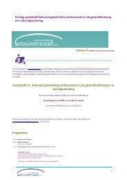 Rondetafel 2: Seksueel geweld door professionals in ... - Vrouwenraad
