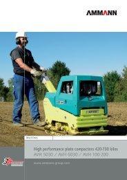 High performance plate compactors 420-730 kilos ... - Comingersoll