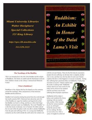 Buddhism: An Exhibit in Honor of the Dalai Lama's Visit - Walter ...