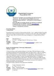 HandelsbanksVeteranerna Programblad 4/2011