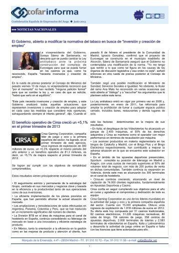 CofarInforma | Junio, 2013