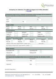 Ansøgning om udstedelse af certifikat på baggrund ... - Trafikstyrelsen