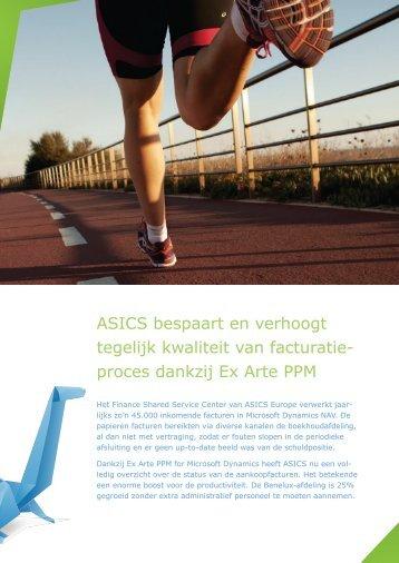 ASICS bespaart en verhoogt tegelijk kwaliteit van facturatie ... - Ex Arte