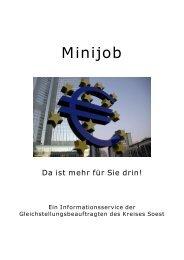 Minijob - Da ist mehr für Sie drin! - Competentia NRW