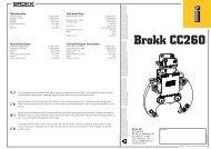 Caractéristiques techniques Technische Daten ... - Brokk Australia