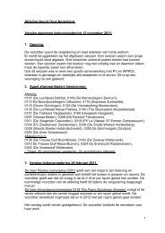 Verslag ALV november 2011 - NPO Afdeling 10