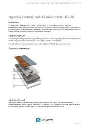 Ingjutning i betong med LK Golvvärmelist 16 / 20