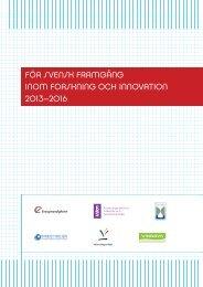för svensk framgång inom forskning och innovation 2013–2016 - Fas