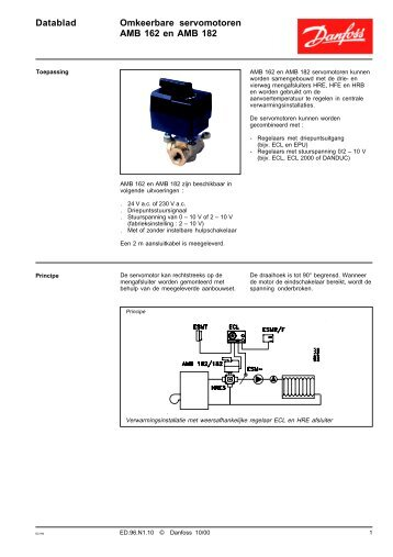 Datablad Omkeerbare servomotoren AMB 162 en AMB 182