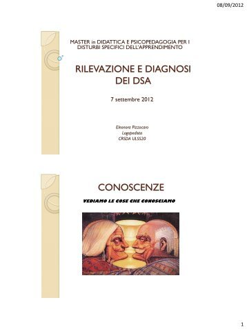 RILEVAZIONE E DIAGNOSI DEI DSA CONOSCENZE - DSAverona