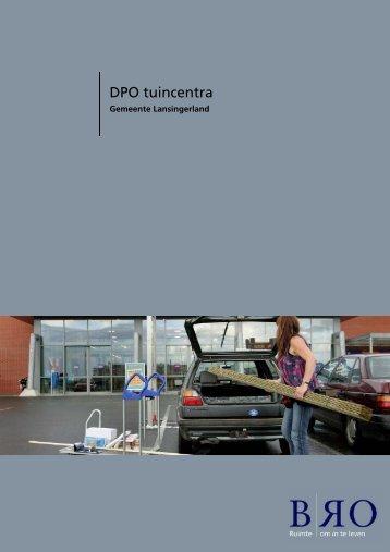 Bijlage 9 DPO tuincentra - Gemeente Lansingerland