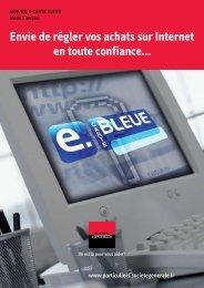 Mode d'emploi du service e-Carte Bleue - Société Générale