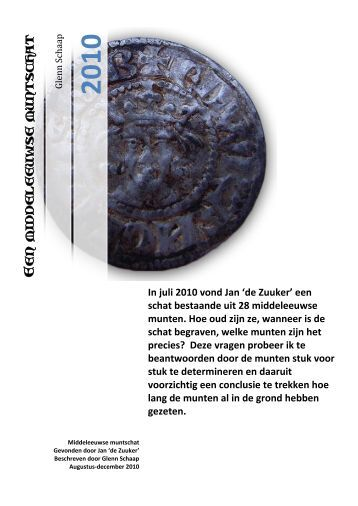 Een middeleeuwse muntschat - Munten en bodemvondsten