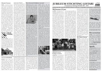 jubileum krant 2010 - Stichting Lestari
