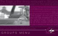 Groups - The Edge Restaurant