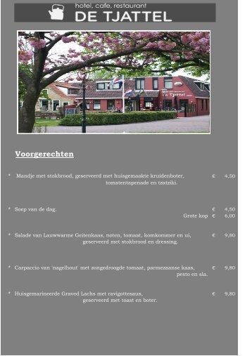 menu NL - de Tjattel