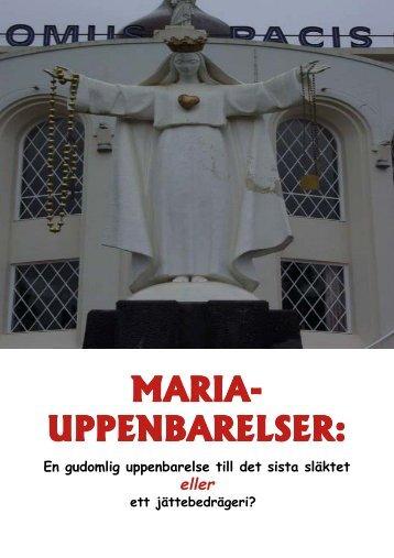 maria uppenbarelser - Endtime.net