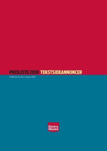 Tekstside 2010 - Ekstra Bladet Salg