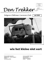 Den Trekker - juli 2009 - Belgian Oldtimer Caravan Club