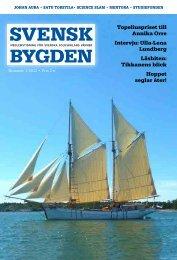 Svenskbygden 1-2013 - Svenska folkskolans vänner