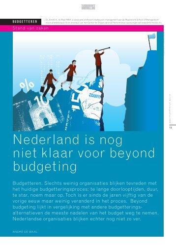 Nederland is nog niet klaar voor beyond budgeting - Andre de ...