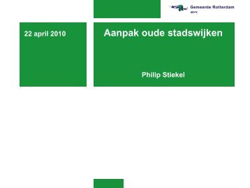 Aanpak oude stadswijken - Vereniging BWT Nederland