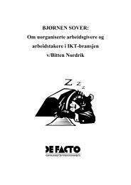 Hele rapporten i pdf-format - De Facto