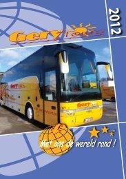 REISKALENDER bvba GERY TOURS