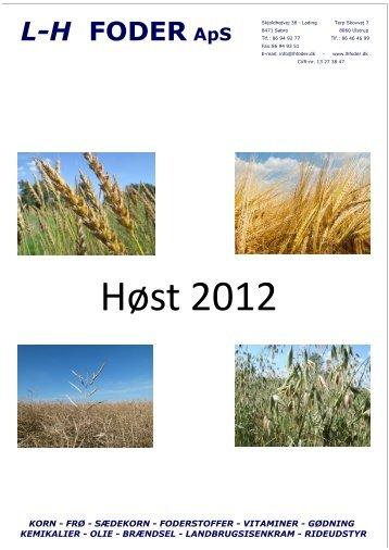 Se vores høstinformation 2012 her - Forside - LHFODER.DK