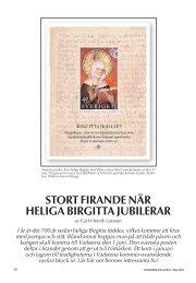 stort firande när heliga birgitta jubilerar - Nordisk Filateli