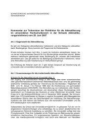 Kommentar zur Teilrevision der Richtlinien für die Akkreditierung im ...