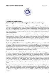 SOU 2001:14 Sexualbrotten - Brottsoffermyndigheten