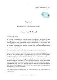 Intervju 4 med Dr. Neruda - Wingmakers.se