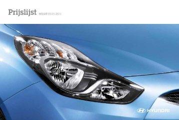 Prijslijst BELGIË 03-01-2011 - Genesis - Hyundai