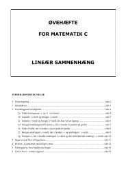 ØVEHÆFTE FOR MATEMATIK C LINEÆR SAMMENHÆNG