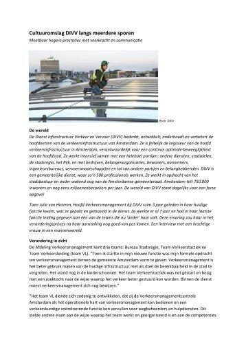 Cultuuromslag Dienst Infrastructuur Verkeer en Vervoer - Apollo
