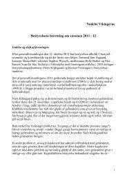 Nødebo Vikingerne Bestyrelsens beretning om sæsonen 2011 - 12