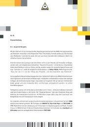 01/ 01 Pressemitteilung II C – be part of the party Mit dem Start von II ...