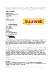Lees hier de voorwaarden van Sunweb Vakanties - Wintersport ...
