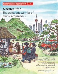 A better life? The wants and worries of - Economist Intelligence Unit