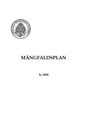 MÅNGFALDSPLAN - Dramaten