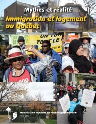 Immigration et logement au Québec - Frapru