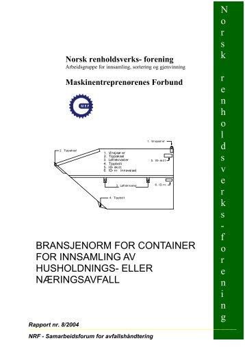 bransjenorm for container for innsamling av ... - Avfall Norge