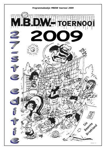 Programmaboekje MBDW toernooi 2009 Blz. 1 - strato-hosting