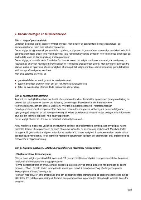 FEJLKILDEANALYSE METODEBESKRIVELSE - Dansk Selskab for ...