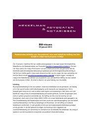 btw - Hekkelman Advocaten & Notarissen