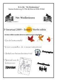 Het Weidenieuws 3e kwartaal 2009.pdf - De Weideruiters