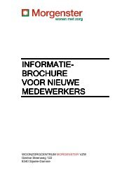 informatie informatie - woonzorgcentrum Morgenster vzw