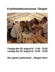 Kvalitetsfødevaremesse i Skagen - Skagen Turistforening