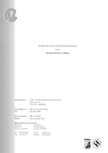 Bijlage 2 Grondonderzoek